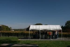 tasting tent