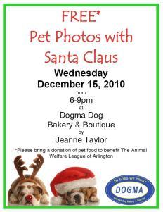 Pet photos with Santa at Dogma